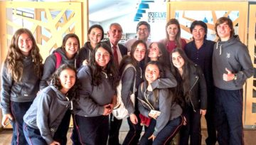 Inspiring Colombian youth at Colegio de Inglaterra